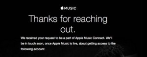 Mail de confirmation Apple Music